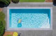Emilie medence szürke peremkővel