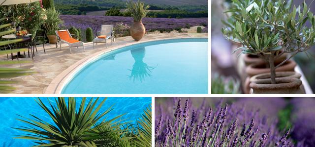 Mediterrán kerti medencék