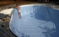 Kerti medence építés: fóliázás