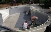 Fóliázáshoz készülünk - úszómedence építés