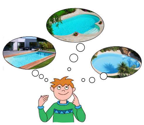 szögletes medence, szabad formájú medence